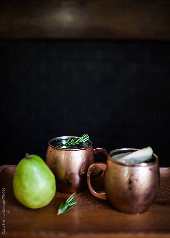 Pear cocktail by Kayla Snell for Stocksy United