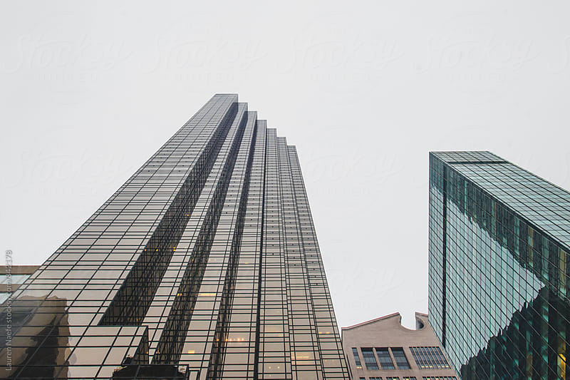 Tall skyscrapers in New York City by Lauren Naefe for Stocksy United