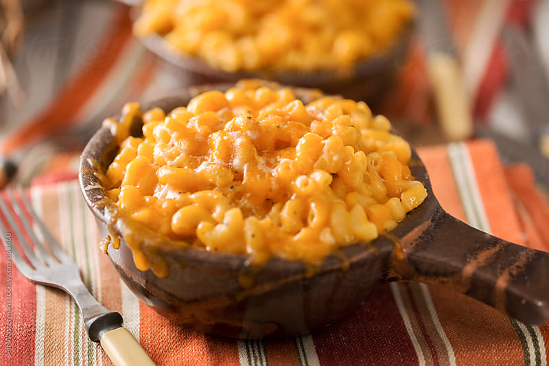 Macaroni and Cheese in Crock Bowls by Jeff Wasserman for Stocksy United