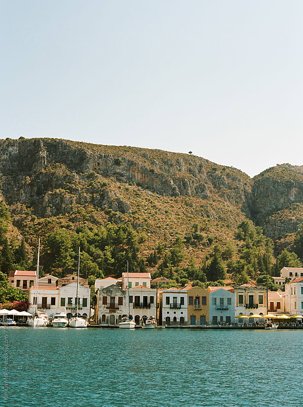 Bay of Kastellorizo, Greece by Kirstin Mckee for Stocksy United
