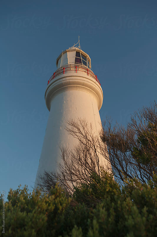 Historic lighthouse from low angle by Ben Ryan for Stocksy United