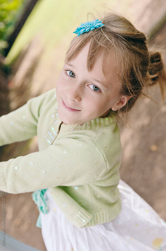 young girl at the park by Gillian Vann for Stocksy United