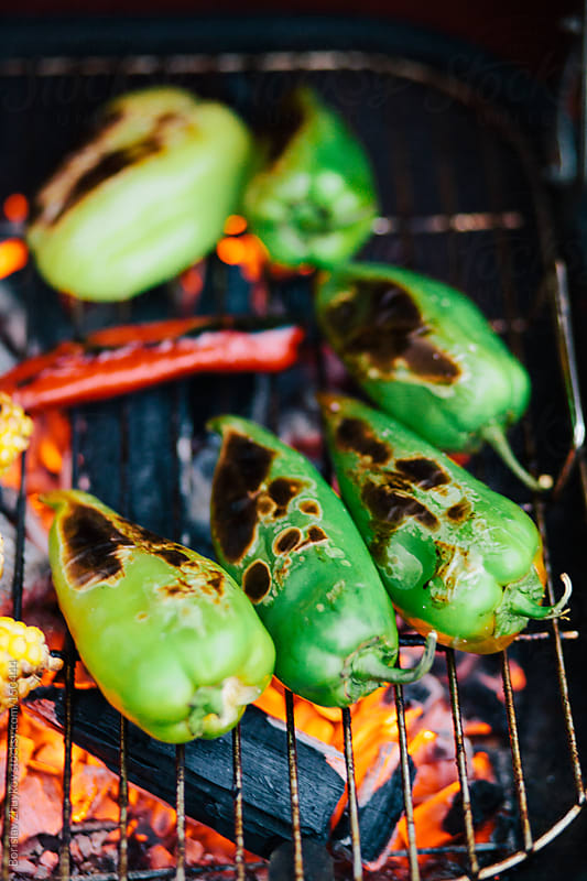 Summer grilling out vegetables by Borislav Zhuykov for Stocksy United