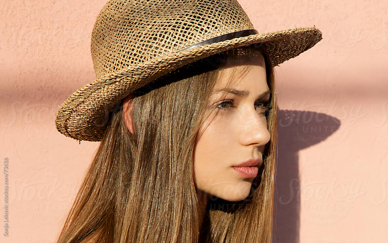 beauty with a hat by Sonja Lekovic for Stocksy United