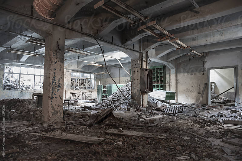 old abandoned  factory by Alexey Kuzma for Stocksy United