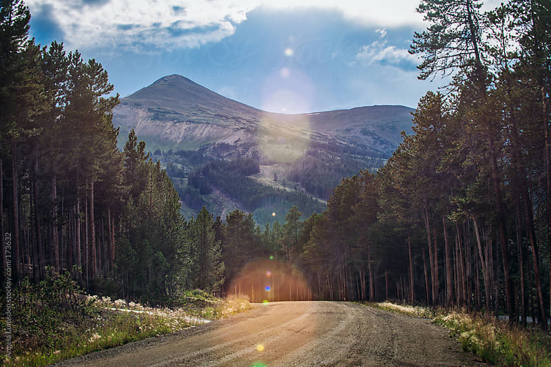 Country road leading to a ski area in Colorado in summer by Angela Lumsden for Stocksy United