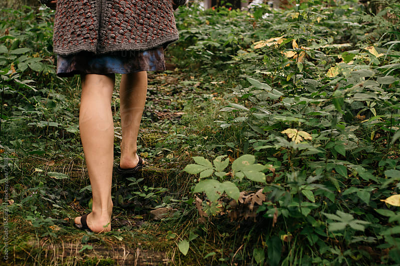 Woman's legs on a nature walk by Gabriel (Gabi) Bucataru for Stocksy United