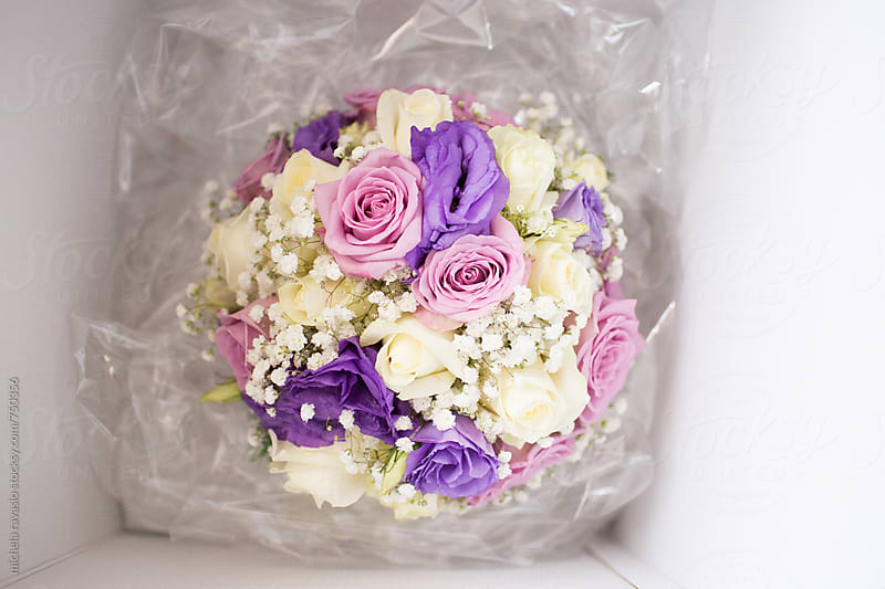Floral bouquets in a box by michela ravasio for Stocksy United