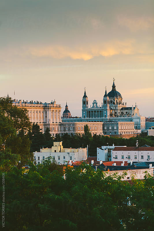 Almudena Cathedral and Royal Palace, Madrid by VICTOR TORRES for Stocksy United