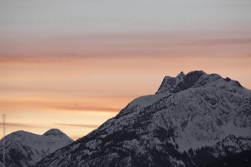 Mountain Sunset by Luke Gram for Stocksy United