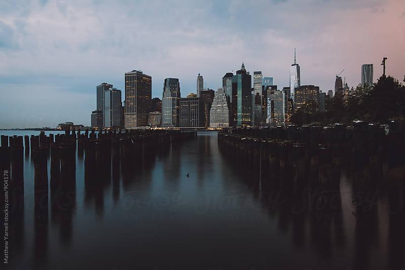 Manhattan Skyline from the Brooklyn Side by Matthew Yarnell for Stocksy United