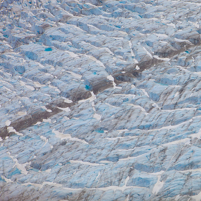 Glacier details during summer in Alaska by Shelly Perry for Stocksy United