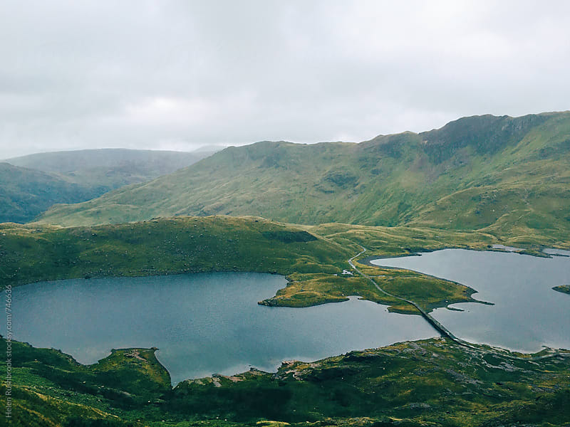 Lakes in Snowdonia by Helen Rushbrook for Stocksy United