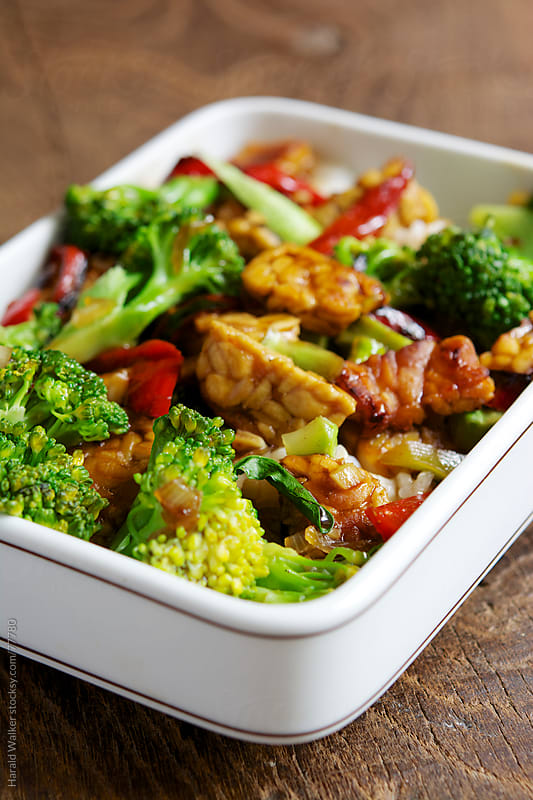 Spicy Tempeh and Broccoli Stir Fry by Harald Walker for Stocksy United