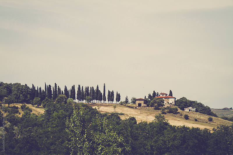 farm in the tuscany  by Leander Nardin for Stocksy United
