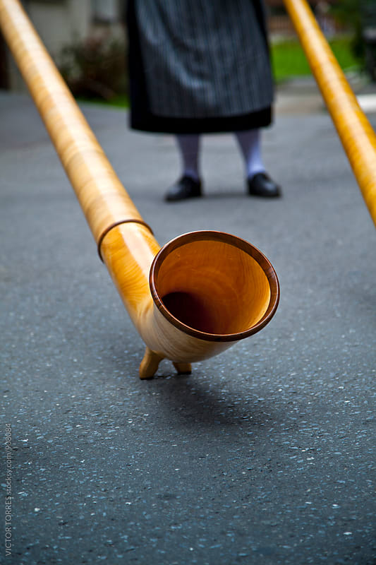 Swiss Alphorn Detail by Victor Torres for Stocksy United