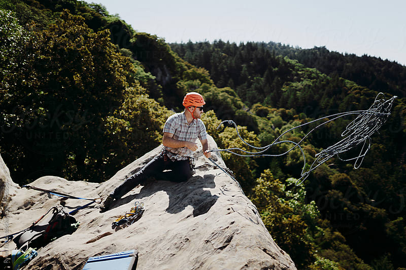 Castle Rock Climbing by Ryan Tuttle for Stocksy United