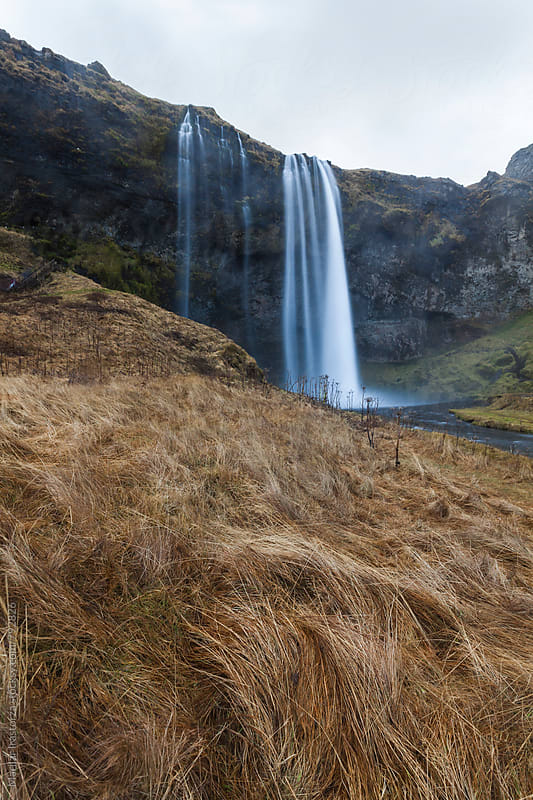 Seljalandsfoss Waterfall by Marilar Irastorza for Stocksy United