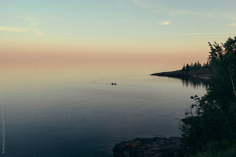 Lake Superior at sunset by Kelly Knox for Stocksy United