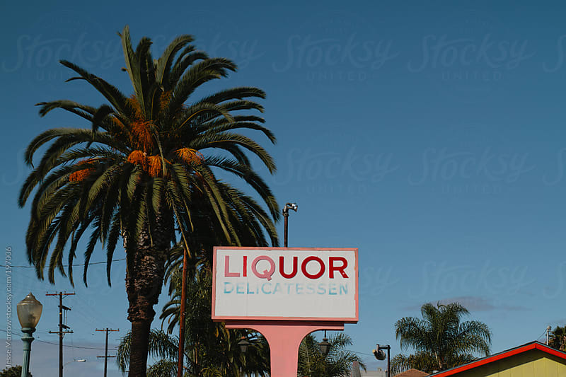 liquor sign by Jesse Morrow for Stocksy United