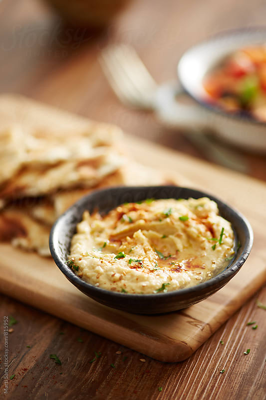 Homemade hummus by Martí Sans for Stocksy United