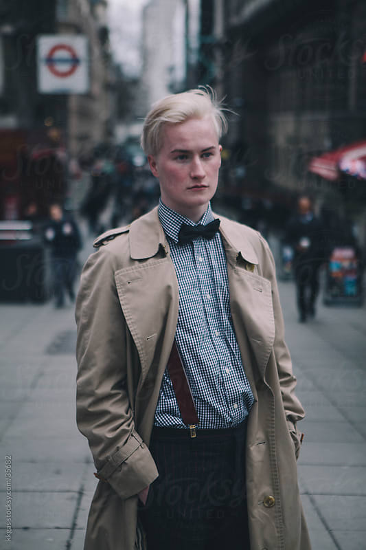 Fashionable young man in the street in Covent Garden london. by kkgas for Stocksy United