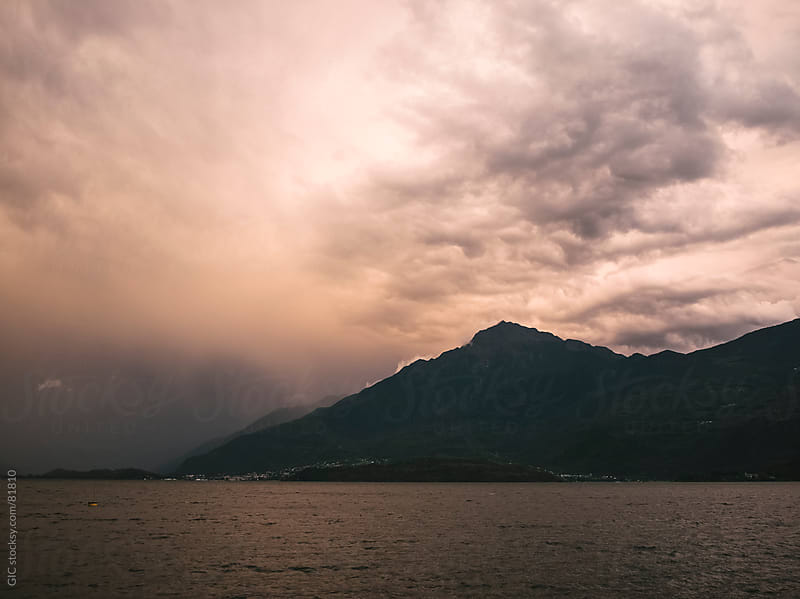 Storm on the lake by GIC for Stocksy United