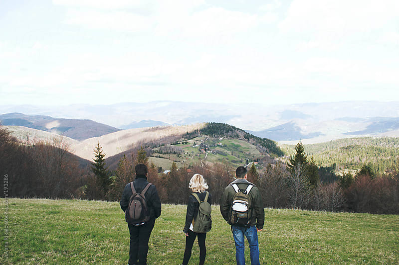 Friends hiking on a beautiful sunny day by Jovana Rikalo for Stocksy United