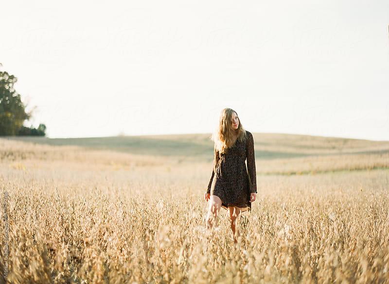 Girl in a Soy Field by Marta Locklear for Stocksy United