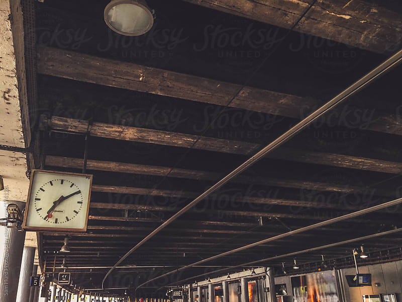 train clock by Sam Hurd Photography for Stocksy United