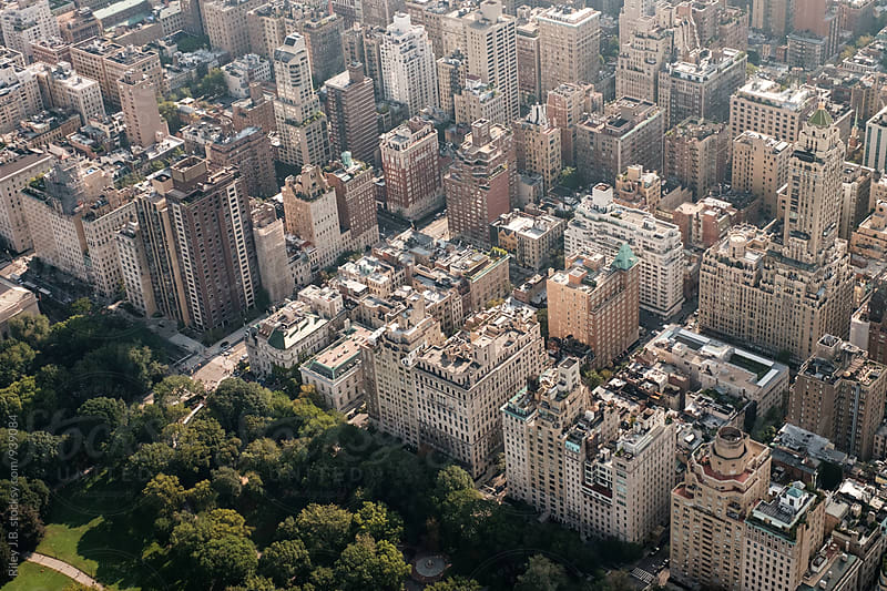 Low-rise apartments next to Central Park in NYC by Riley J.B. for Stocksy United
