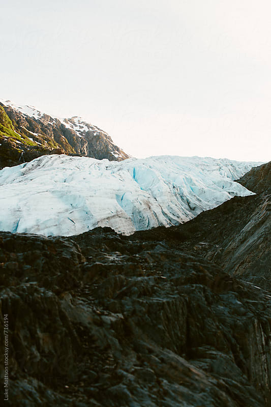 The Icy Face Of Exit Glacier In Kenai Fjords National Park by Luke Mattson for Stocksy United