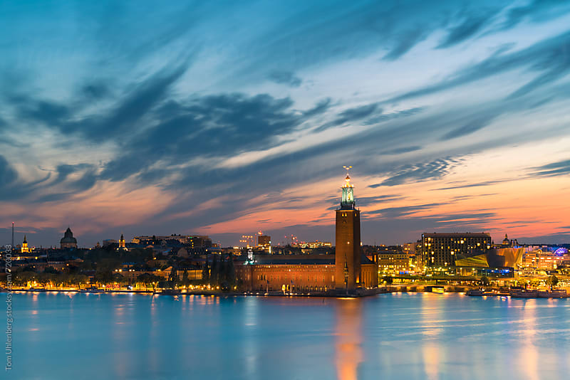 Stockholm, Sweden - Skyline with the City Hall (Stadshuset) by Tom Uhlenberg for Stocksy United