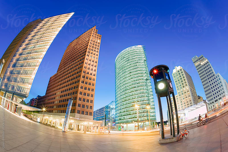 New urban development, modern architecture skyscrapers in Potsdamer Platz, Berlin, Germany, Europe. by Gavin Hellier for Stocksy United