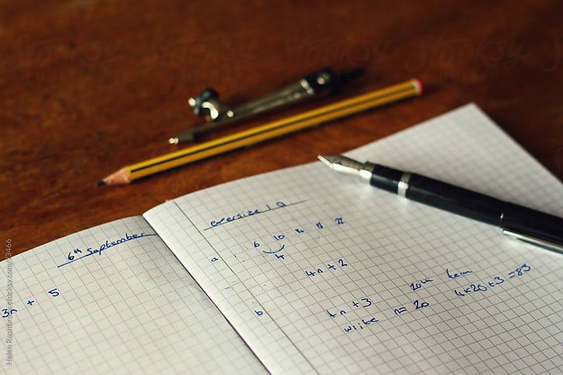 Math homework by Helen Rushbrook for Stocksy United