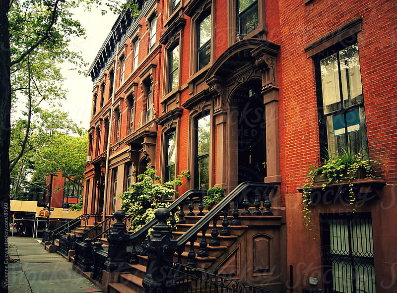 City: Red Brick Brooklyn Brownstones by Vivienne Gucwa for Stocksy United