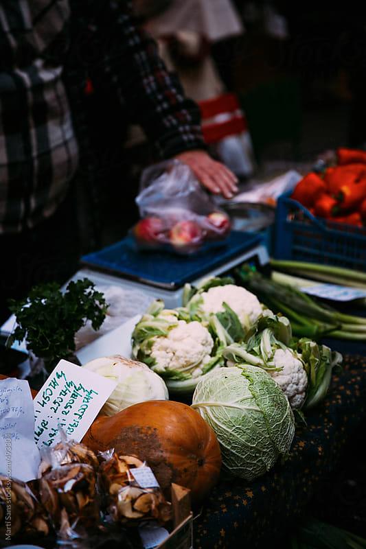 Farmers market outdoor by Martí Sans for Stocksy United