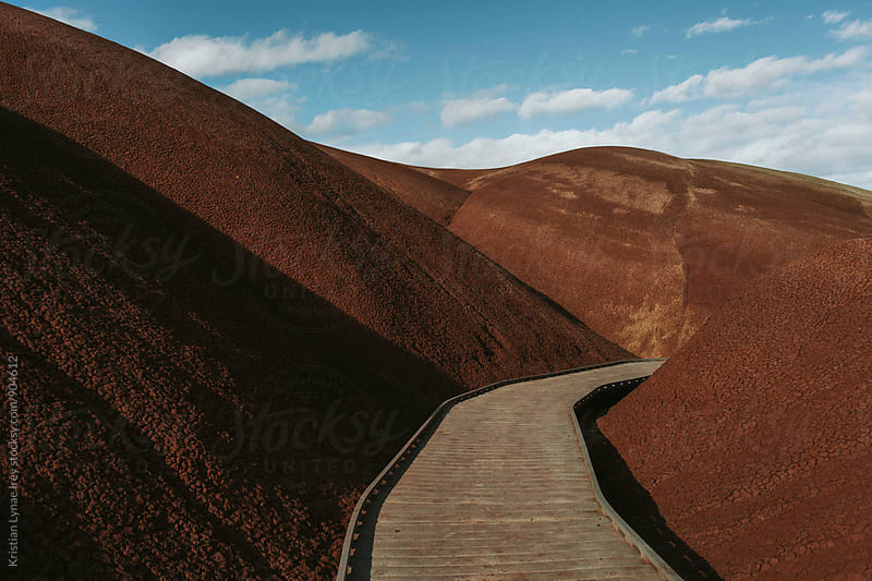 Red Painted Hill by Kristian Lynae Irey for Stocksy United