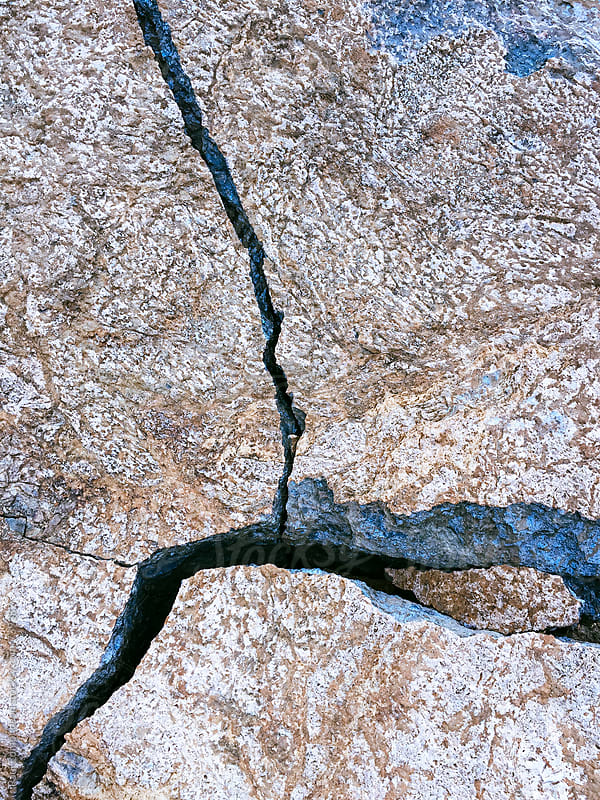 Detail of fractures in rock formations, Central Cascades, WA by Paul Edmondson for Stocksy United