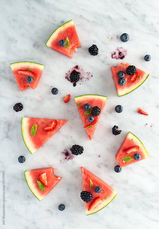 Watermelon Pizza Slices by Jeff Wasserman for Stocksy United