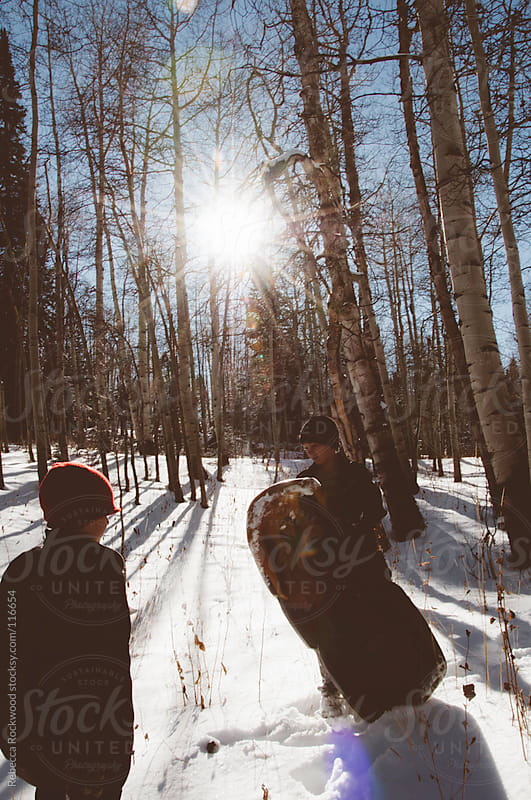 Snow day fun by Rebecca Rockwood for Stocksy United