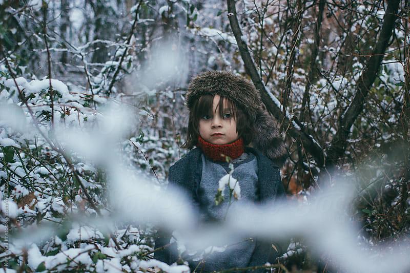 Portrait of a Boy in Winter by Kevin Keller for Stocksy United