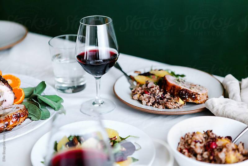 Thanksgiving feast by Ellie Baygulov for Stocksy United
