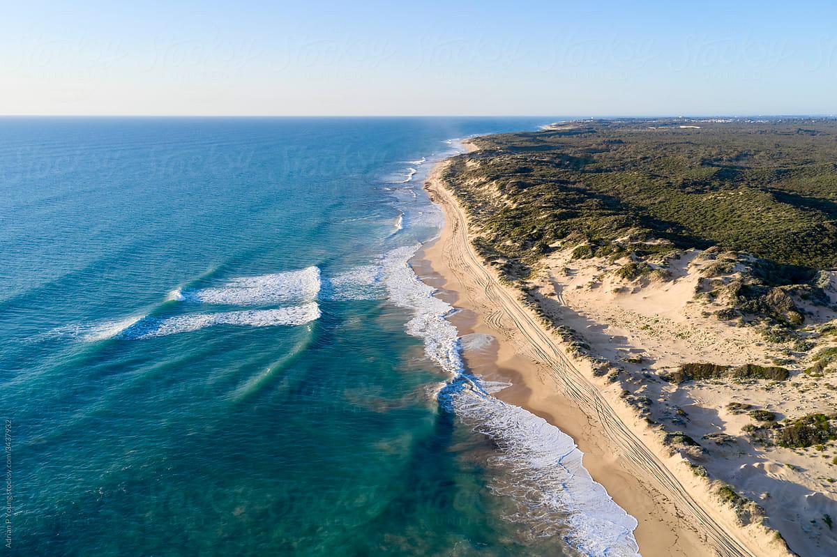 Western Australian coast aerial