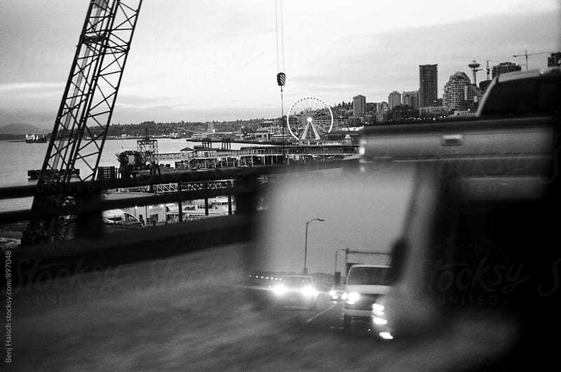 Seattle Waterfront Traffic by Benj Haisch for Stocksy United