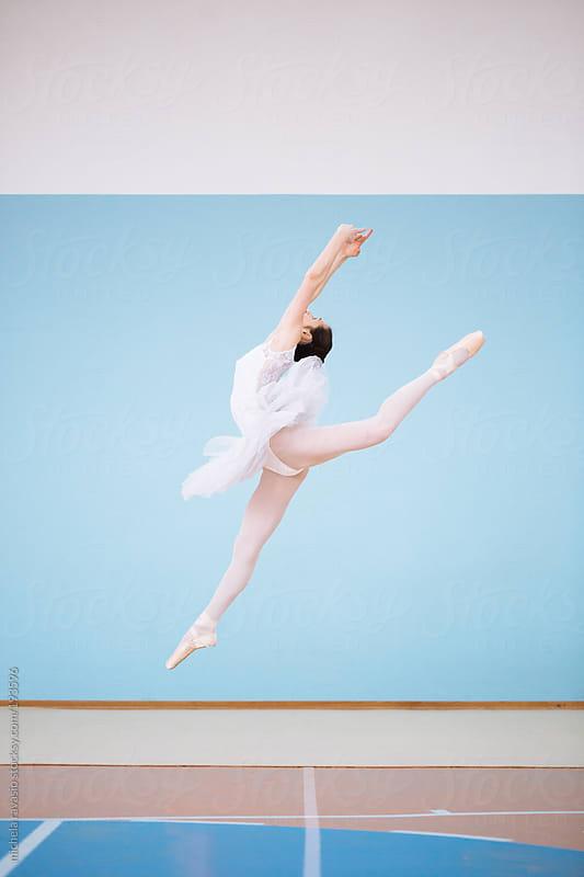 Jumping ballet dancer by michela ravasio for Stocksy United
