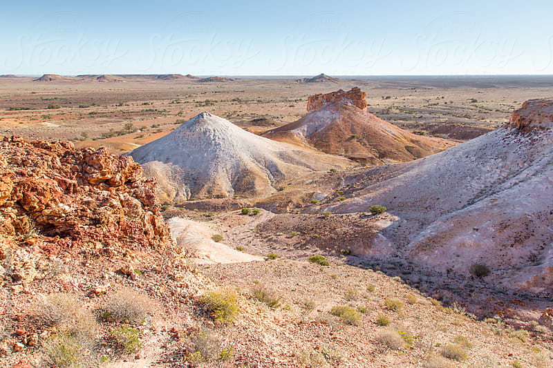 The Breakaways at Coober Pedy. South Australia by John White for Stocksy United