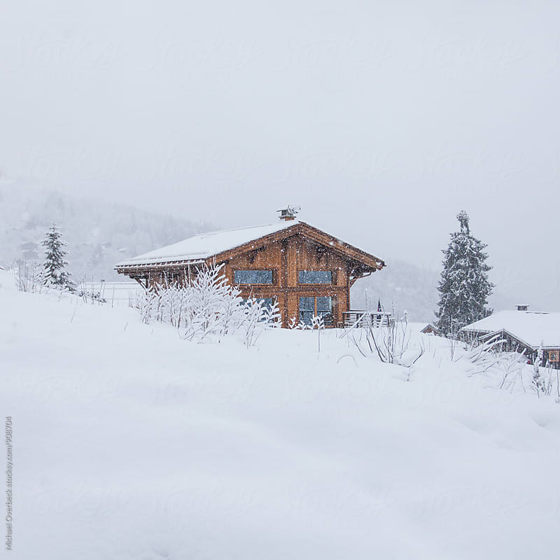 Snowy Cabin by Michael Overbeck for Stocksy United