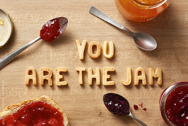 Cookies words with jam by Martí Sans for Stocksy United