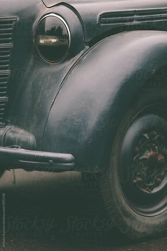 closeup of a soviet vintage car . by Alexey Kuzma for Stocksy United